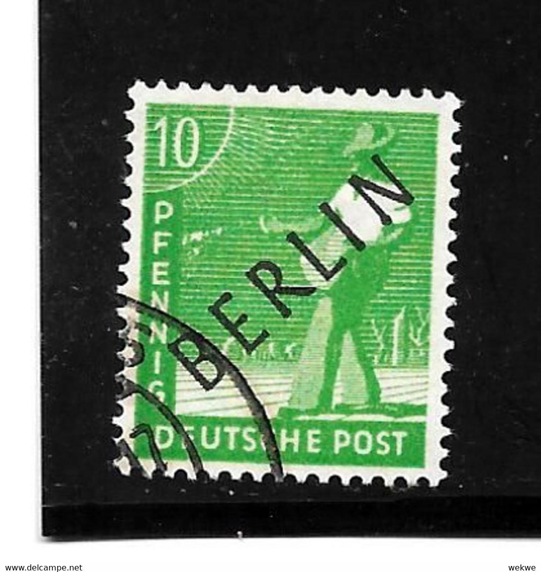 BERLIN Mi.Nr. 4a - 10 Pfg.  Schwarzaufdruck O - Oblitérés