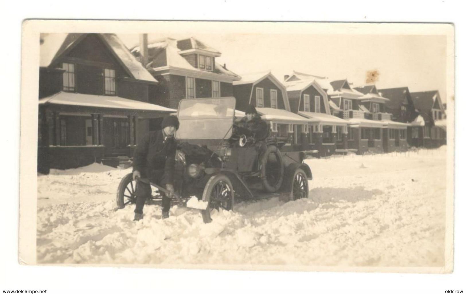 Photograph Regina, Saskatchewan, Cameron St. Old Car Model T, Winter Early 1900's BB - Cars