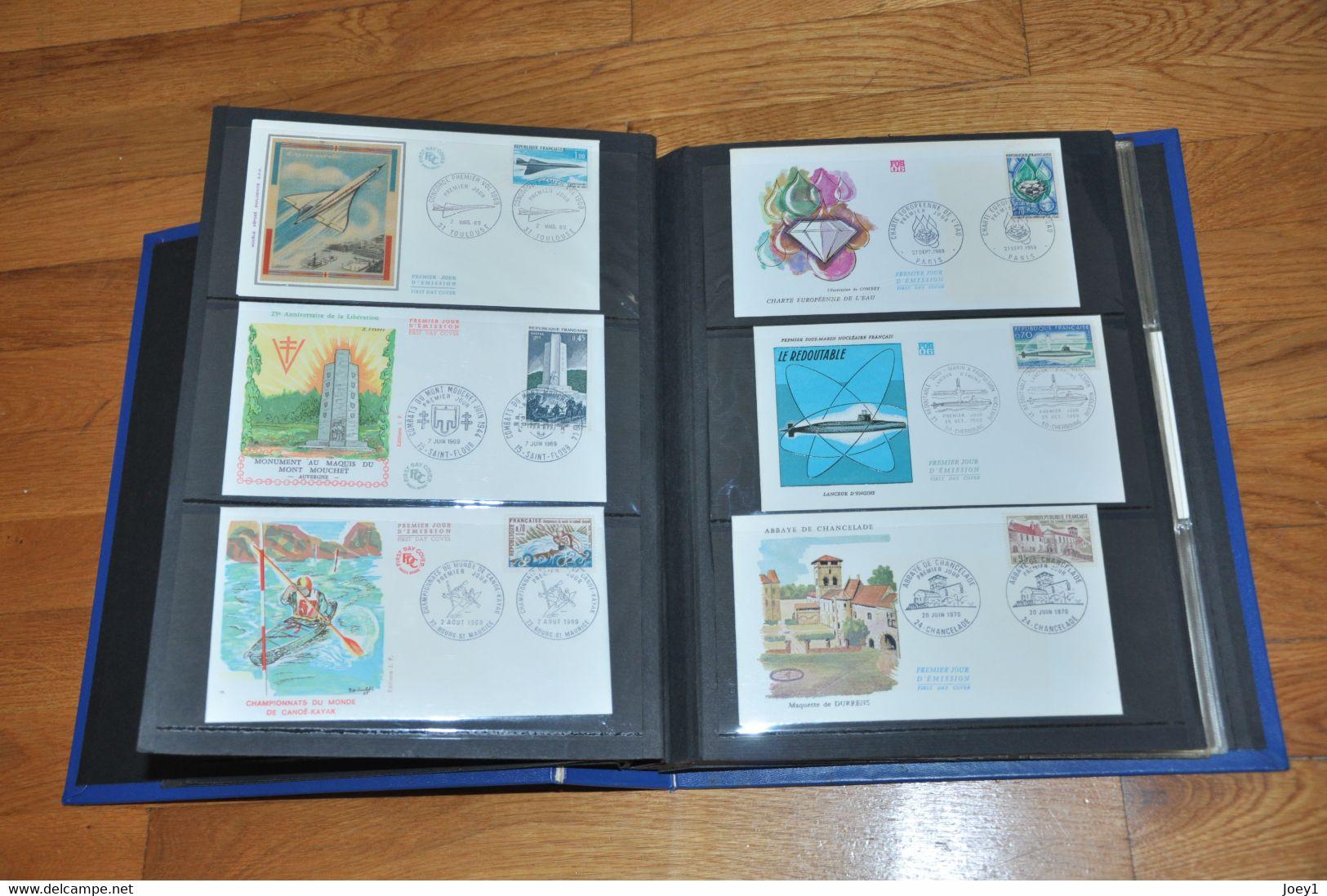 2 Albums Enveloppes Premiers Jours ,305 Enveloppes De 1956 à 1979. - Unclassified