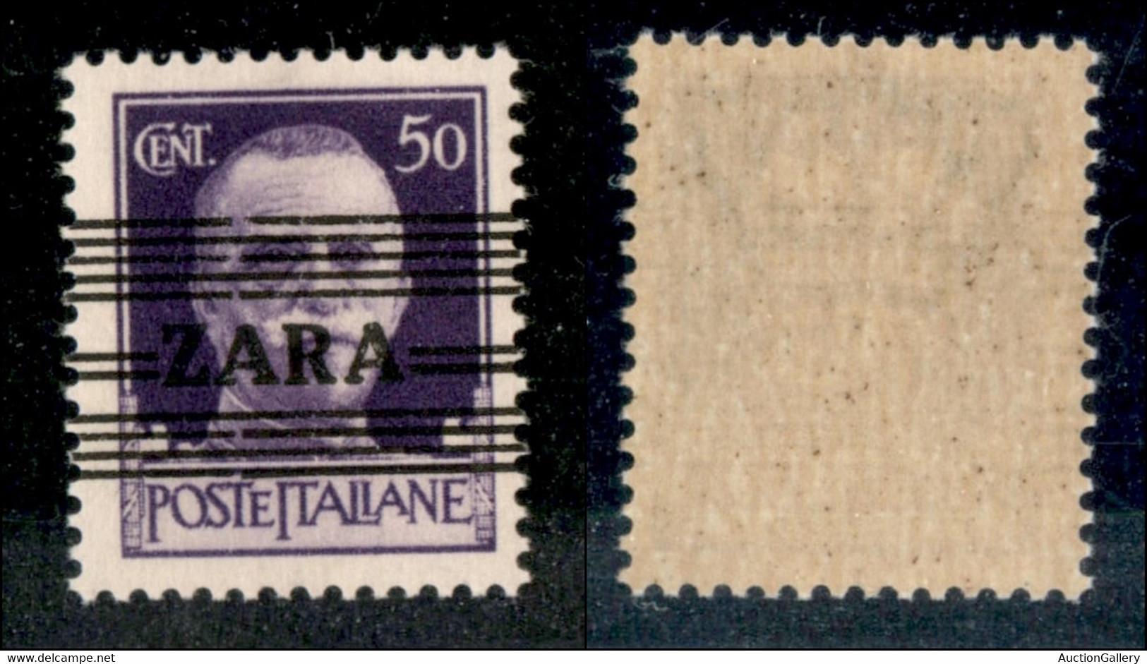 Occupazioni II Guerra Mondiale - Occupazione Tedesca - Zara - 1943 - 50 Cent (24/II) - A Larghe - Gomma Integra (150) - Non Classificati
