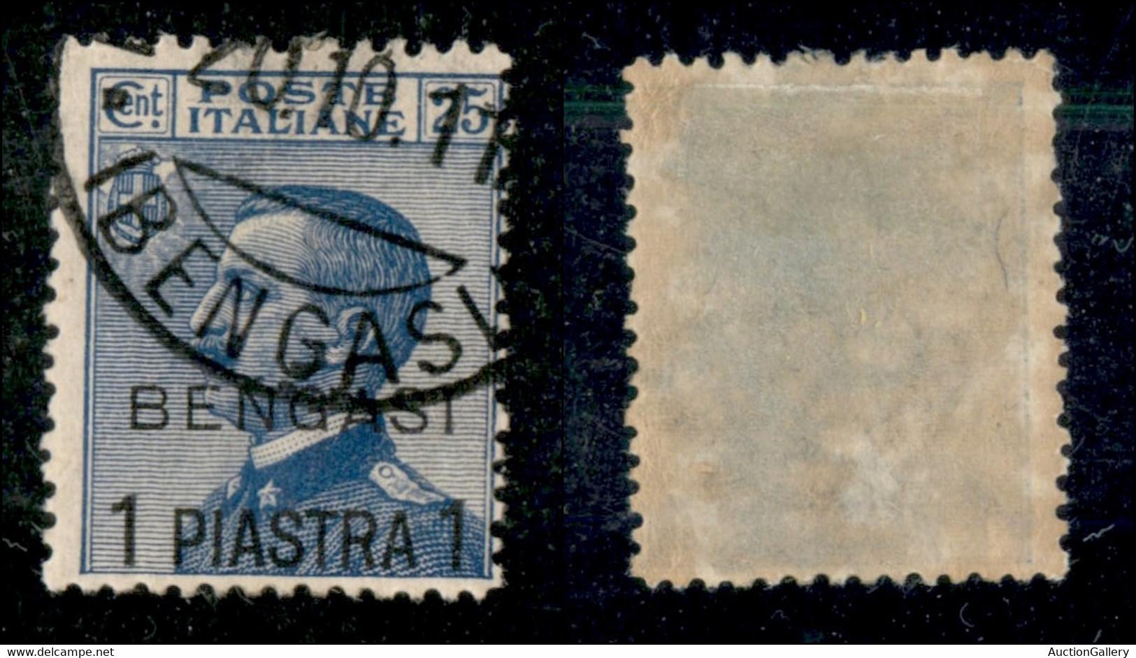 Uffici Postali All'Estero - Levante - Bengasi - 1911 - 1 Piastra Su 25 Cent Michetti (2) Usato (300) - Non Classificati