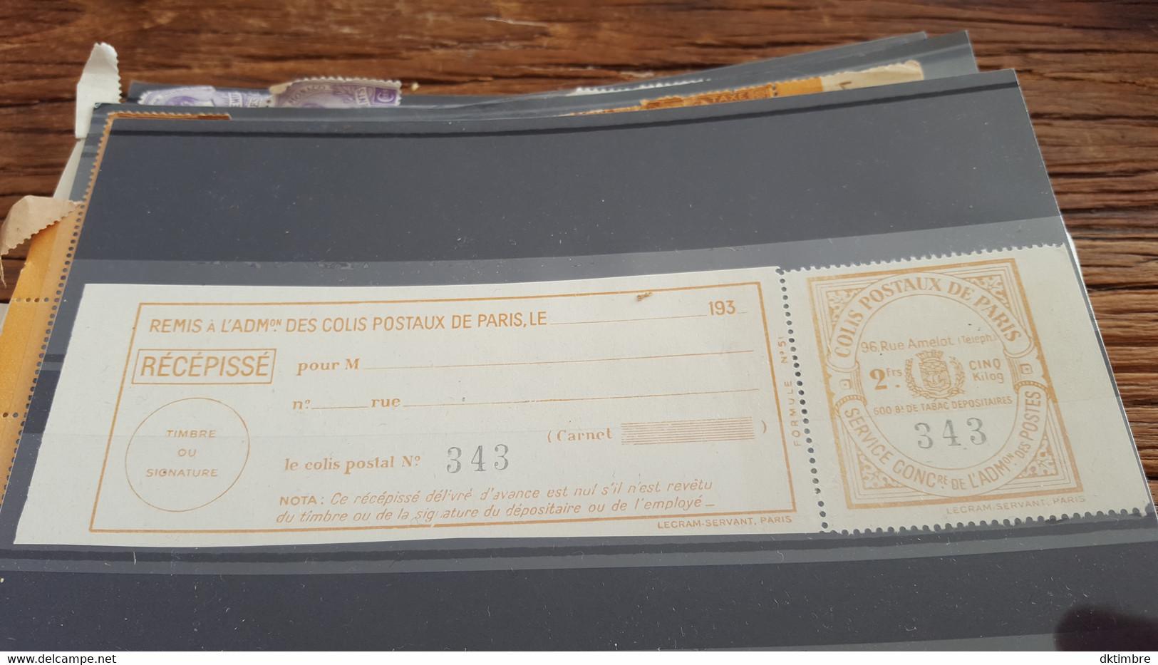 LOT552703 TIMBRE DE FRANCE NEUF** LUXE COLIS POSTAUX PARIS POUR PARIS - Nuevos
