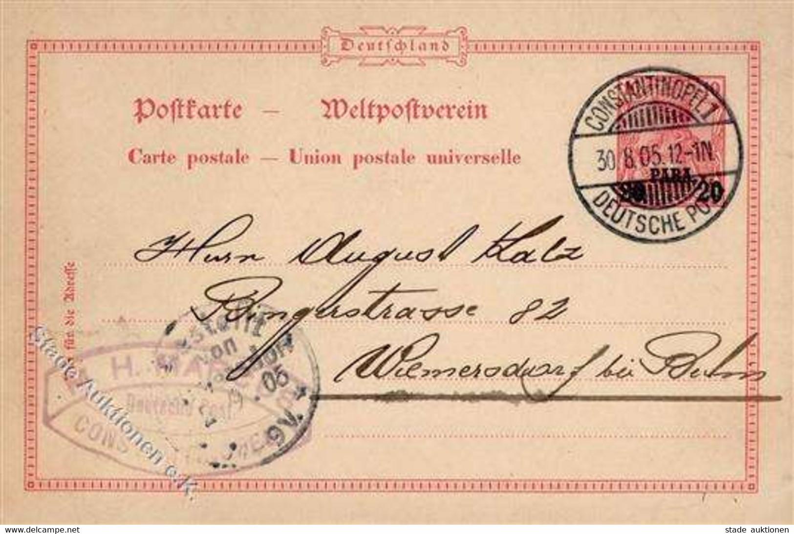 Deutsche Post Türkei Stempel Constantinopel 30.8.05 I-II - Sin Clasificación