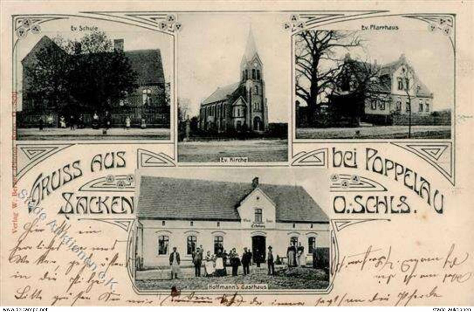Popielow Ev. Kirche Ev. Kirche Gasthaus Hoffmann  I - Unclassified