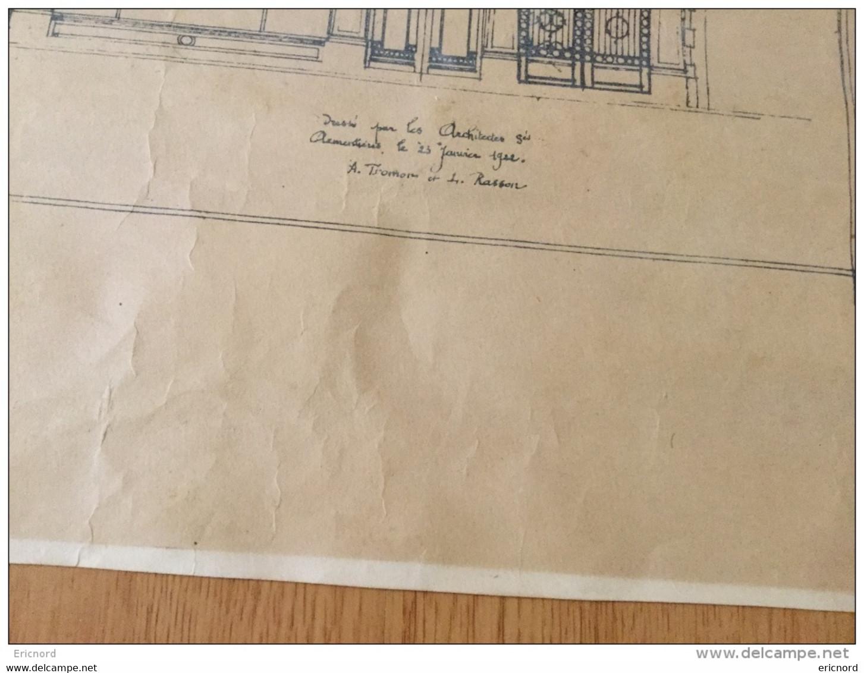 ARMENTIERES - Projet De Reconstruction D\'un Hotel 1922 - Architecture Renaissance Flamande - Tromon Et Rasson - Architecture