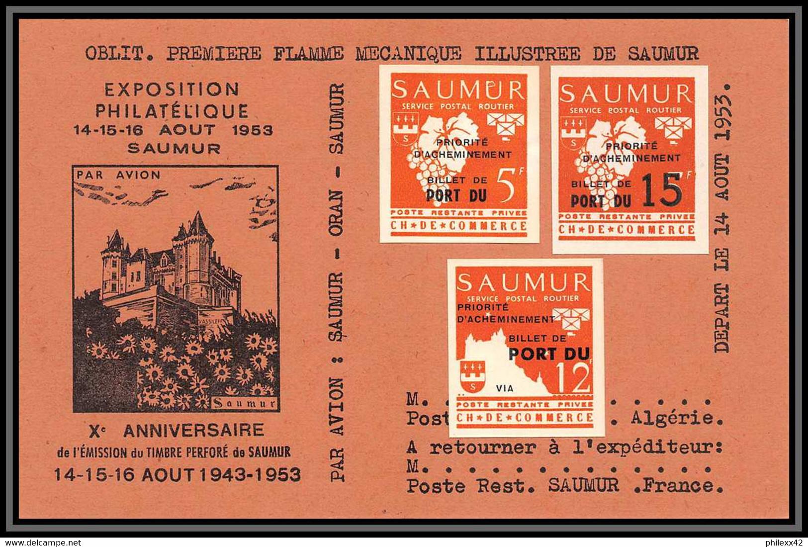 Départ 1 Euro - 85618/ Collection De Timbres De Grève - Saumur 1953 Bel Ensemble Cote +/- 1000 Euros - France - Collections