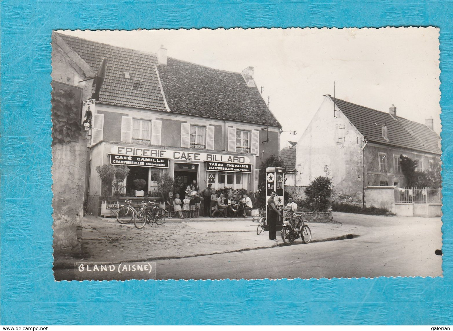 Gland. - Épicerie Café Billard - Café Camille Tabac Chevalier. - Pompe à Essence. - ( Voir Le Dos ). - Other Municipalities