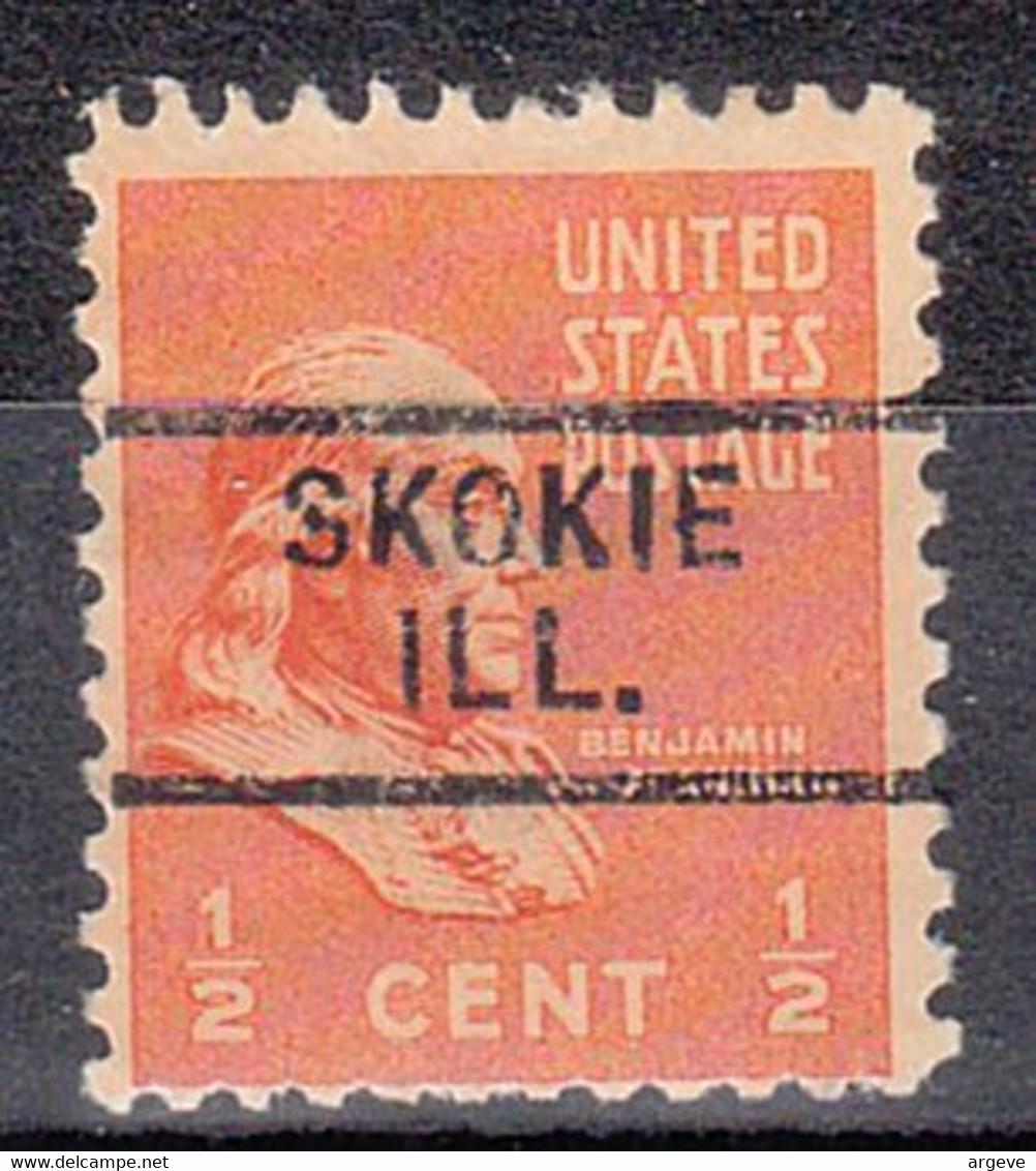 USA Precancel Vorausentwertungen Preos, Locals Illinois, Skokie 729 - Precancels