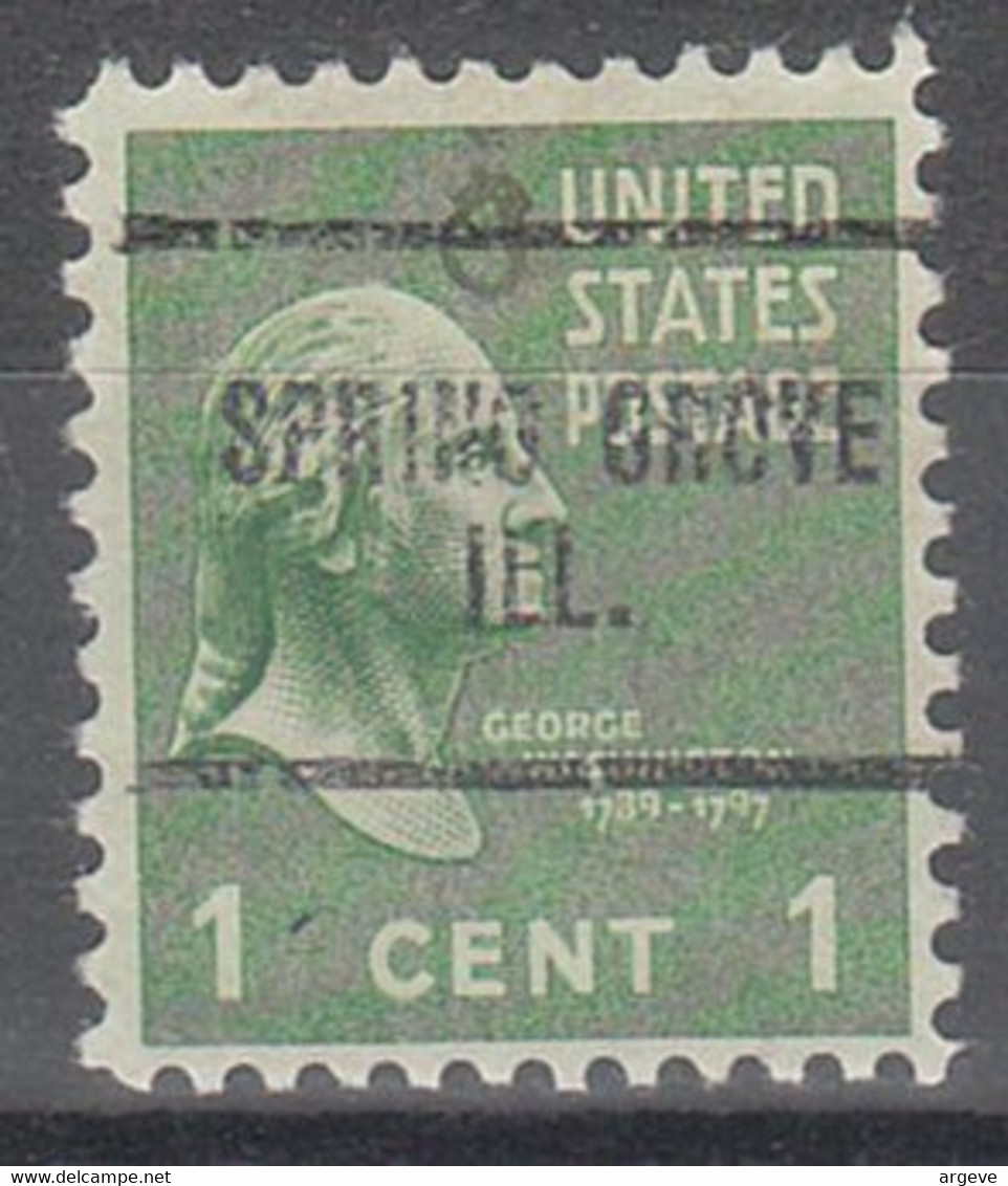 USA Precancel Vorausentwertungen Preos, Locals Illinois, Springerton 734 - Precancels