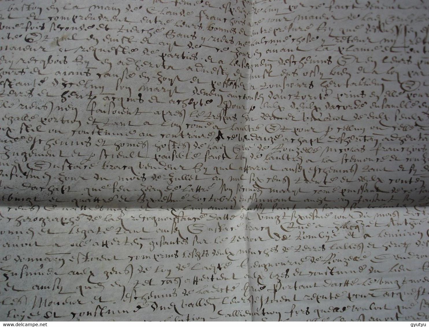 1633 Chirographe De Rombies (Nord) Aujourd'hui Rombies-et-Marchipont à Côté De Valenciennes Pièce Rare (parchemin) ! - Manuscripts