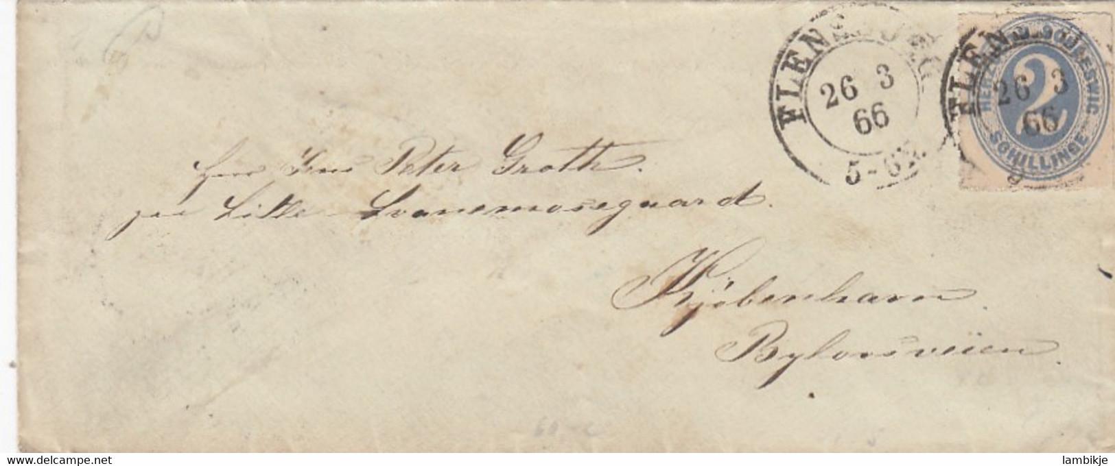 AD Schleswig Holstein Brief P16 1866 - Schleswig-Holstein