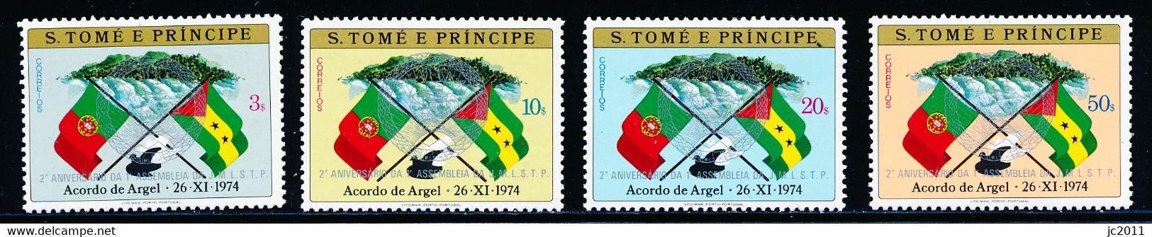 S Tomé E Príncipe - 1975 /1982 - Argel Agreement / Labor Assembly  - 1975 Type - MNH - Sao Tomé E Principe