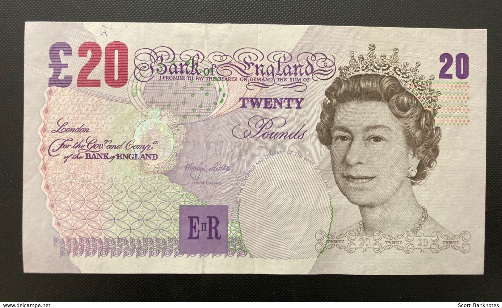 ERROR B368, Serial Number On The Back, Bank Of England 20 Pounds Banknote - 20 Pounds