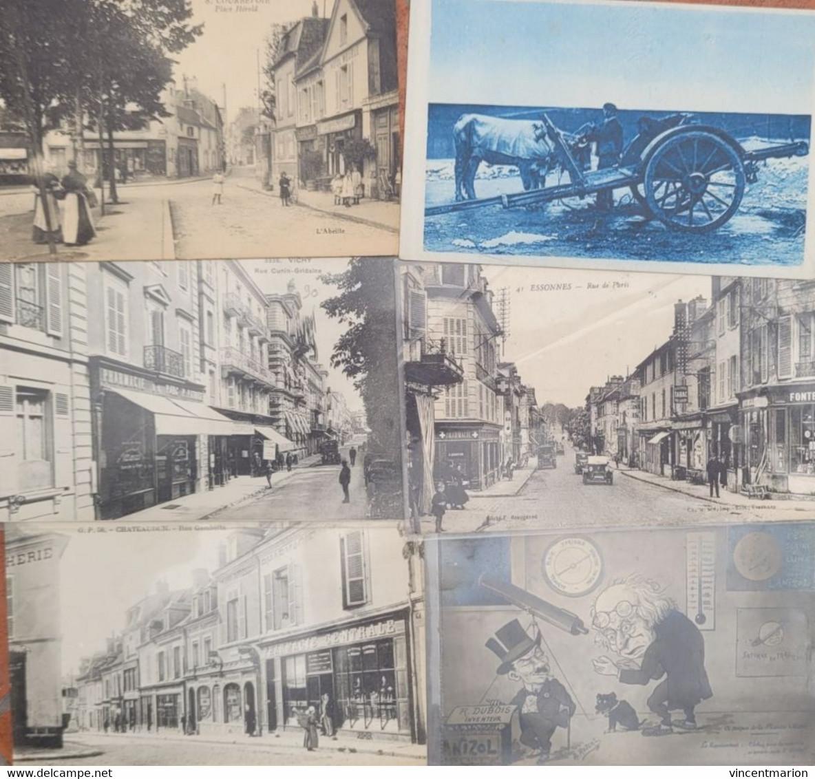 MAGNIFIQUE LOT 120 CPA, Des Rares, Très Animées, Villages Et Petites Villes, Toutes Scannées, à Voir ! - 100 - 499 Postcards