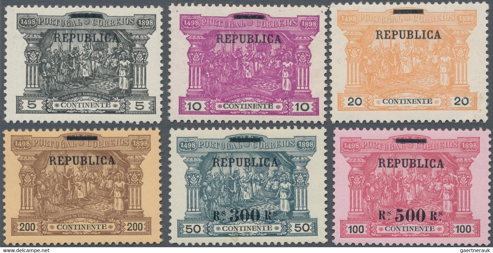 Portugal: 1911, Overprints On Postage Dues, Complete Set Mint Never Hinged (300r. On 50r. Signature - Nuevos