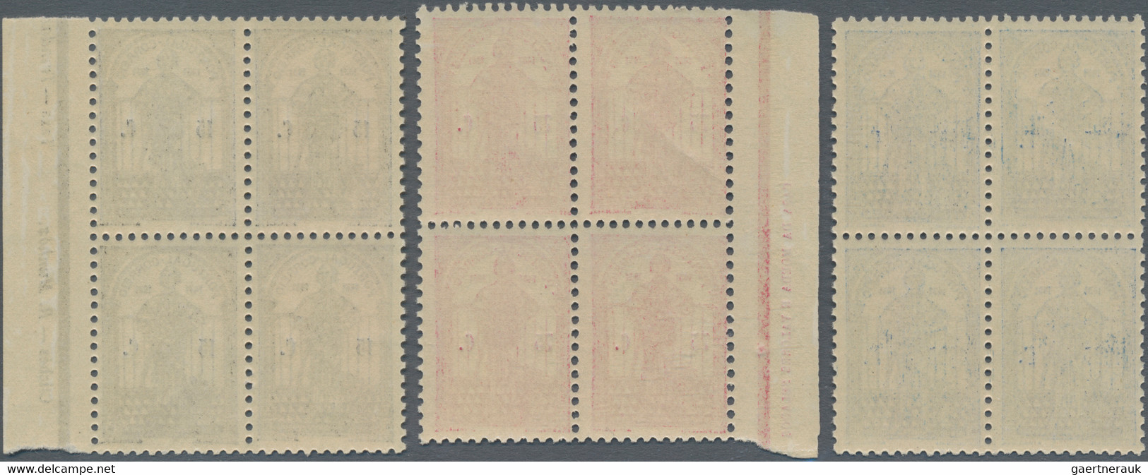 Portugal: 1931, Dum Nuno Álavrez, Complete Set Of Six Stamps, Each In Blocks Of Four, Five With A Ma - Nuevos