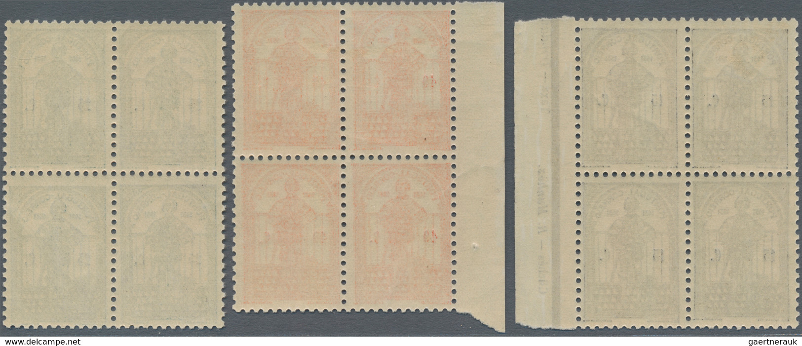 Portugal: 1931, Dum Nuno Álavrez, Complete Set Of Six Stamps, Each In Blocks Of Four, Two With A Mar - Nuevos