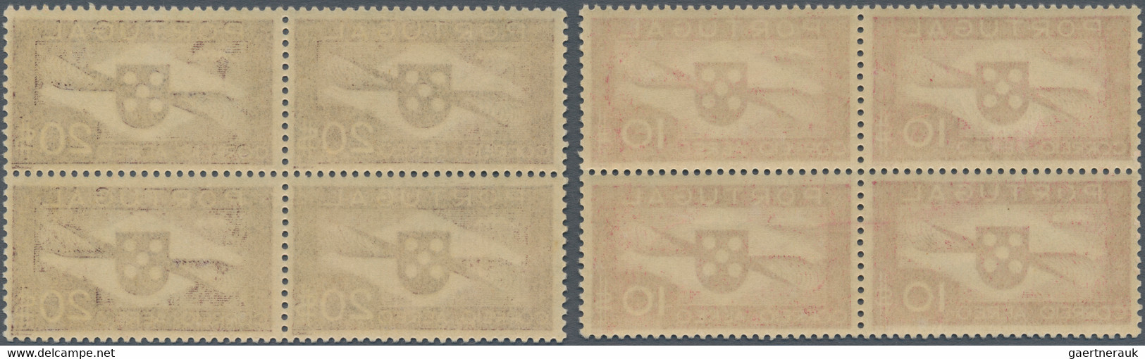 Portugal: 1936 - 1941, 1,50 To 50 E Airmail Issue, Complete Set In Blocks Of Four Mint Never Hinged, - Nuevos