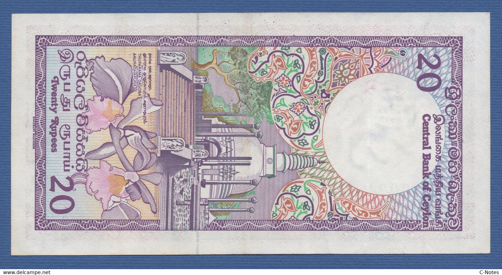 CEYLON & SRI LANKA - Central Bank Of Ceylon - P.93b – 20 RUPEES 1985 VF/XF Serie F/21 033024 - Sri Lanka