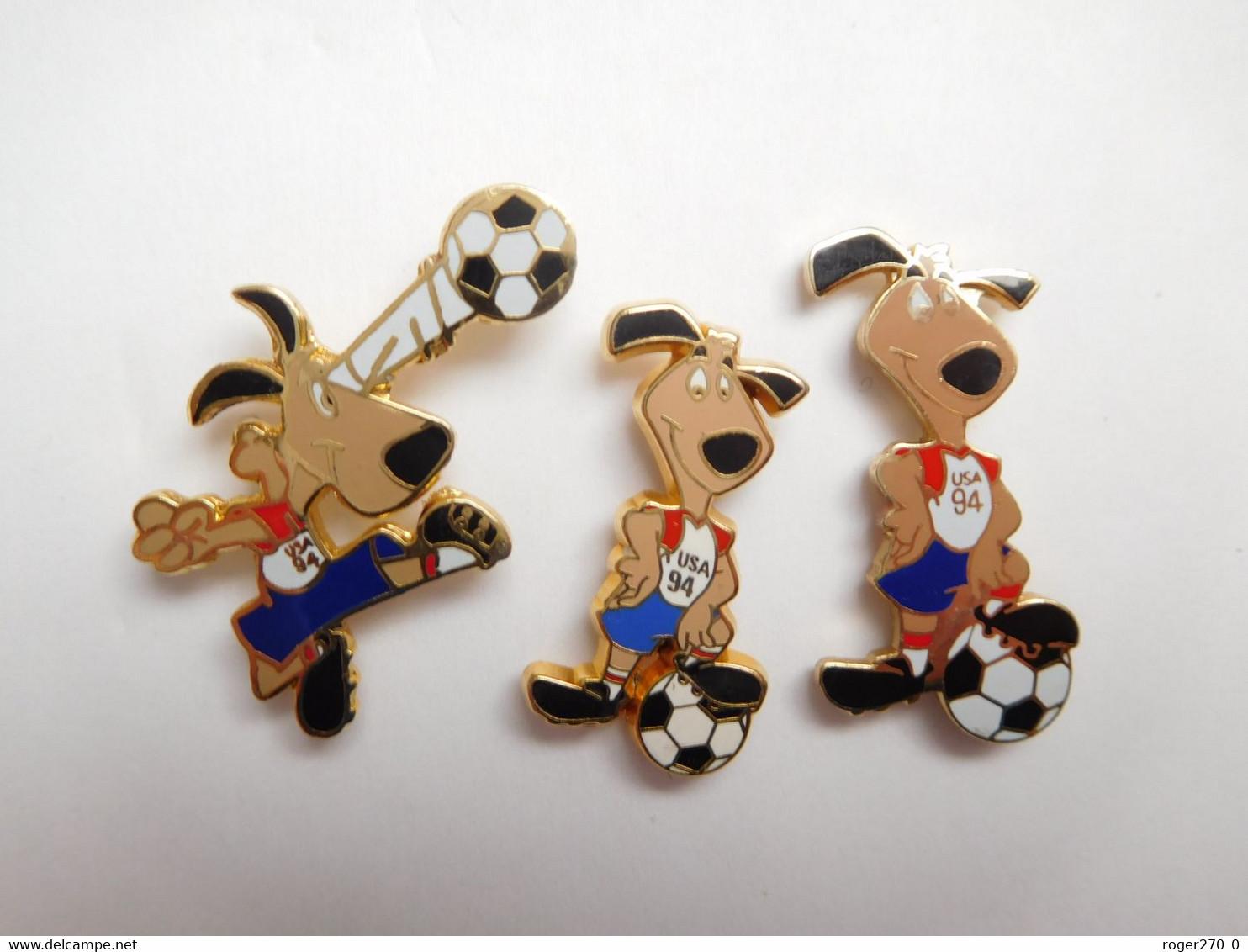 Séries De 3 Pin's Pins En Zamac Et EGF , Coupe Du Monde De Football USA 1994 - Calcio