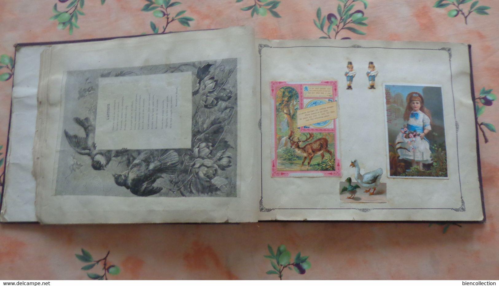 Album 70 Pages De Chromos Lithographies Enfantines - Albums & Catalogues