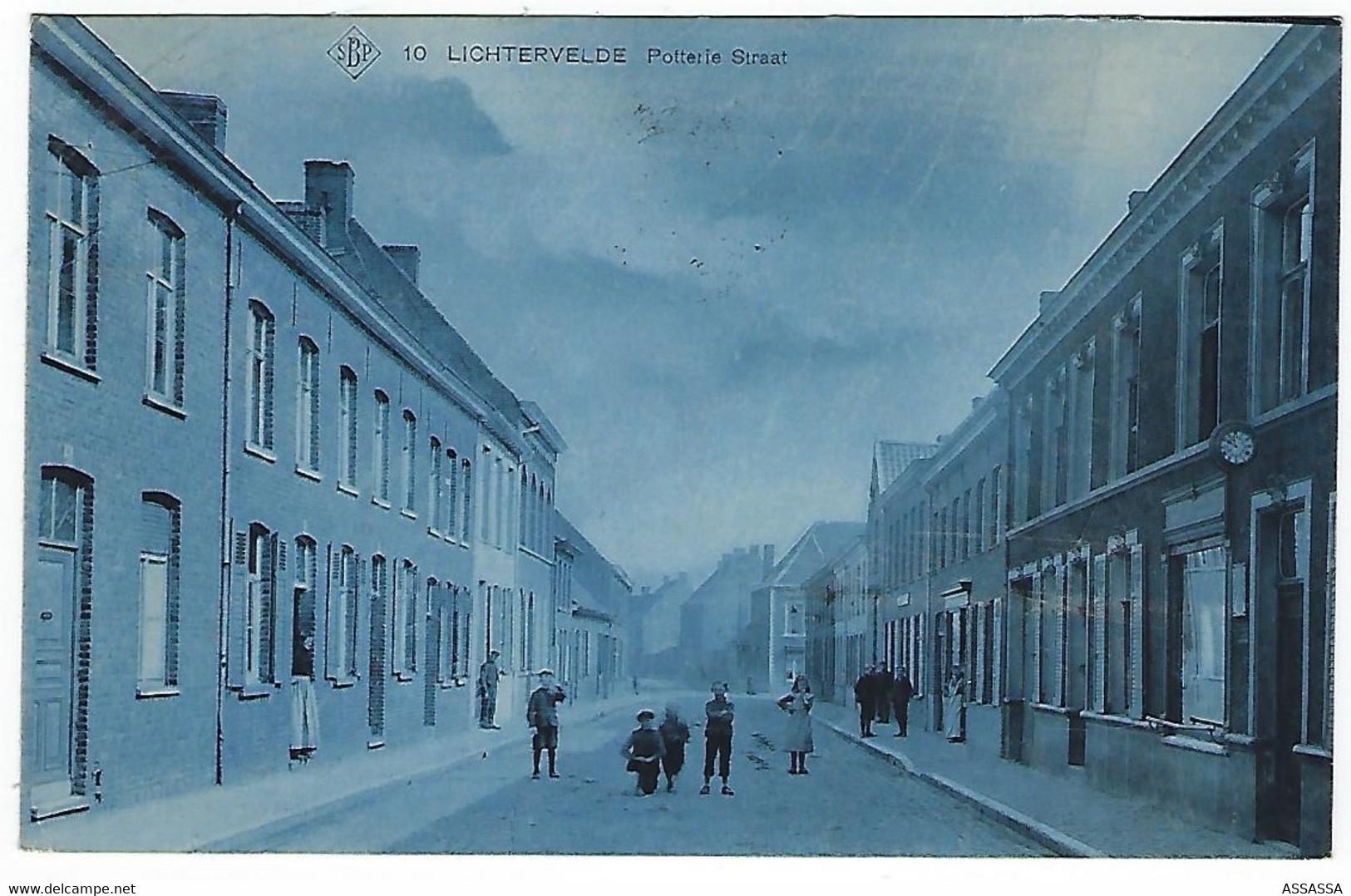 BELGIQUE - TRES TRES RARE - LICHTERVELDE - Potterie Straat - 1914 - Jamais Vendue Sur Delcampe - Lichtervelde