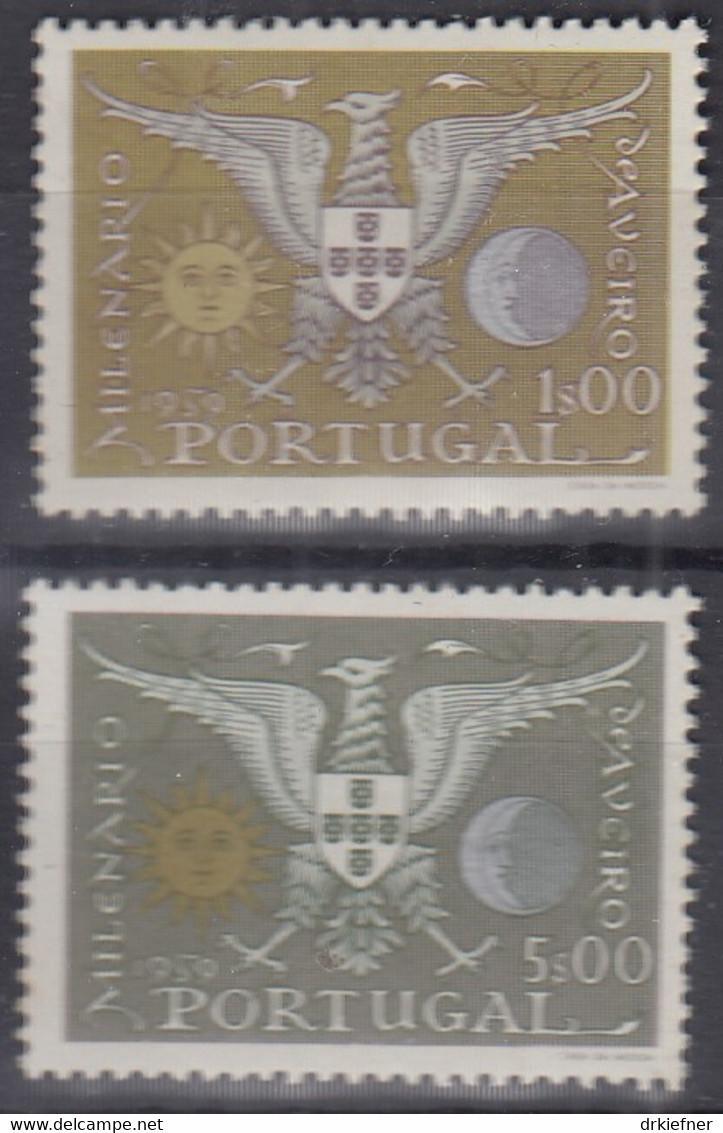 PORTUGAL 876-877, Postfrisch **, 1000. Jahrestag Der Gründung Und 200. Jahrestag Der Stadterhebung Von Aveiro, 1959 - Nuevos
