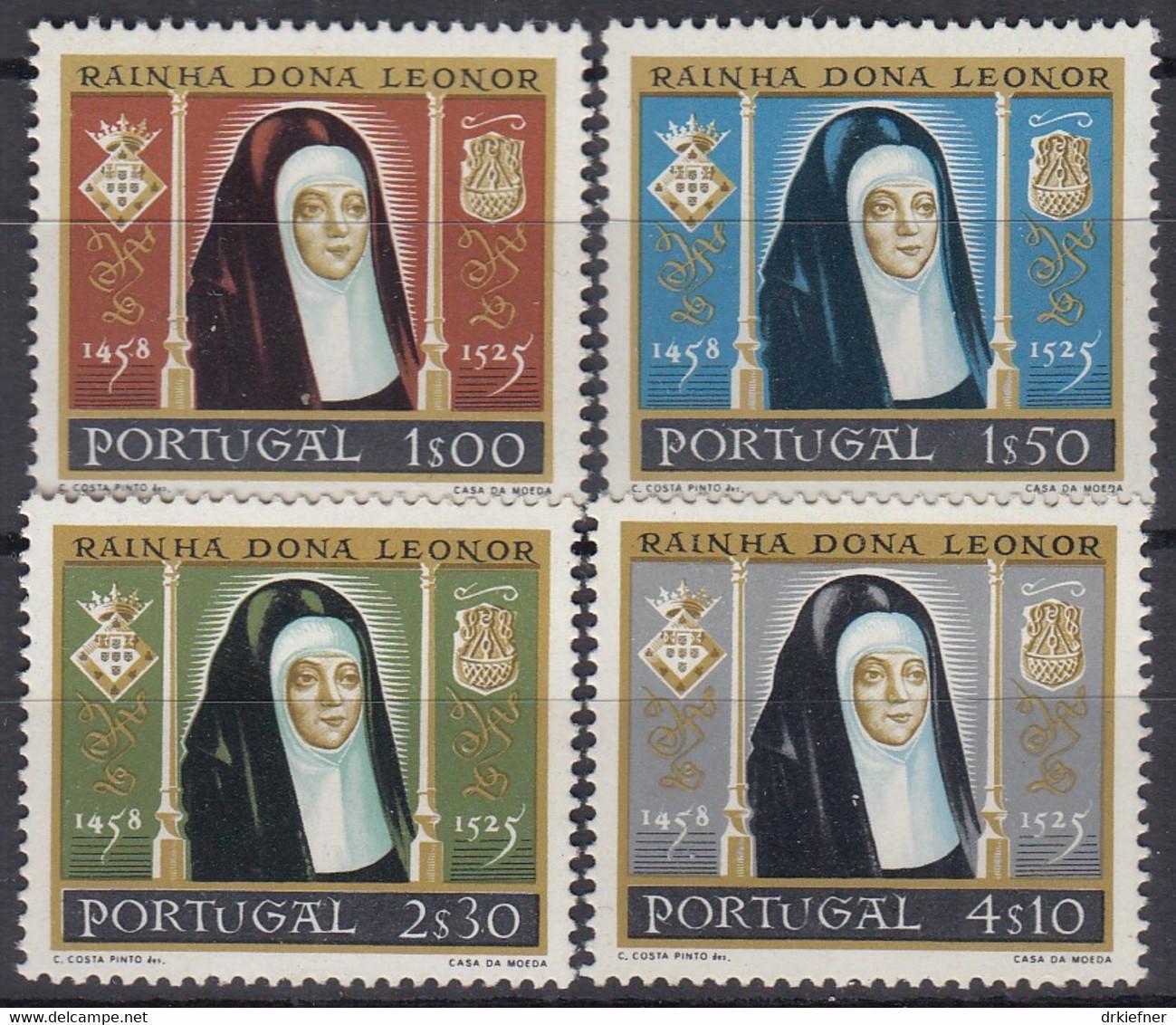 PORTUGAL 872-875, Postfrisch **, 500. Geburtstag Von Königin Leonor, 1958 - Nuevos