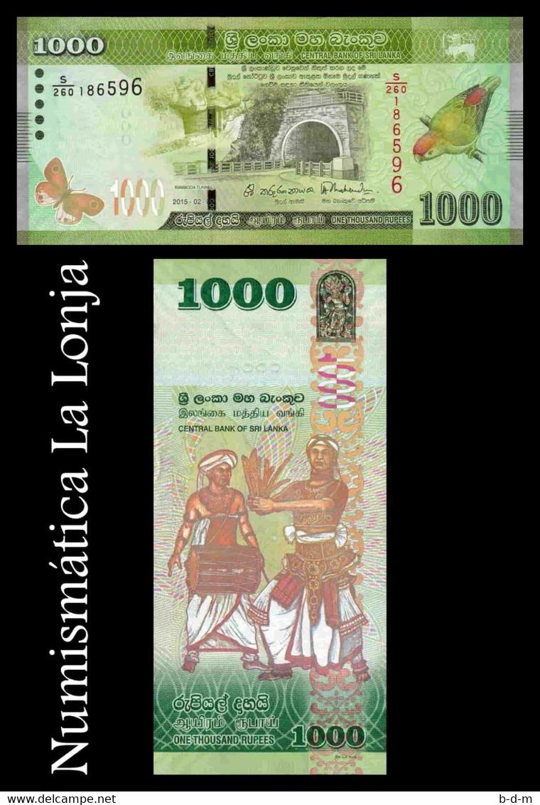 Sri Lanka 1000 Rupees 2015 Pick 127c SC UNC - Sri Lanka