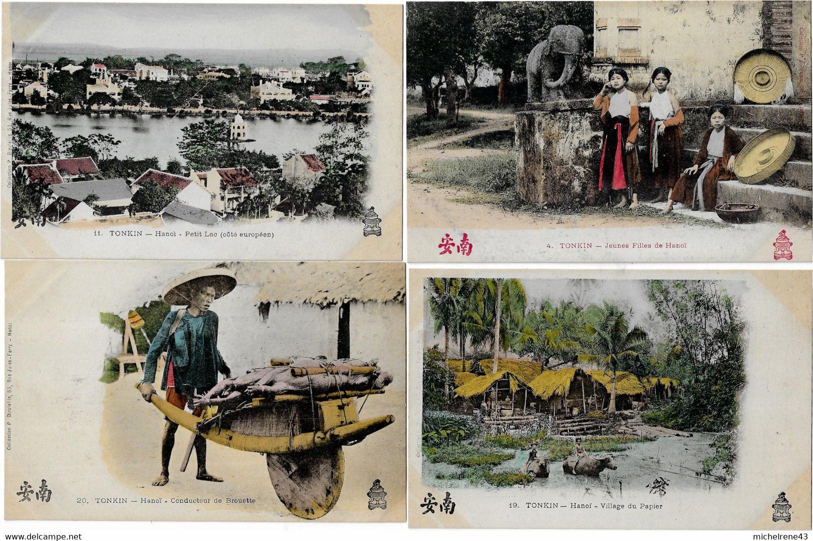 LOT CARTE POSTALE TONKIN ( VIET NAM ) - Types ,Vie Sociale , Paysages - Vietnam