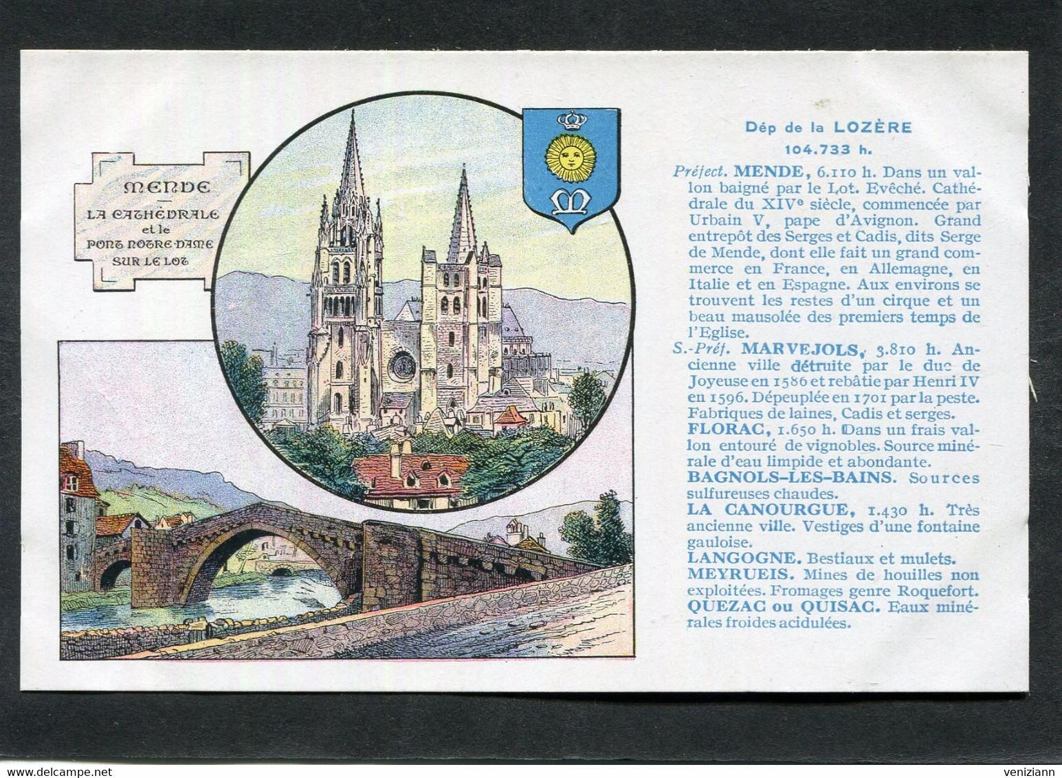 CPA - LA FRANCE QU'IL FAUT CONNAITRE - Publicité Des Pastilles VALDA - Département De La LOZERE - Unclassified