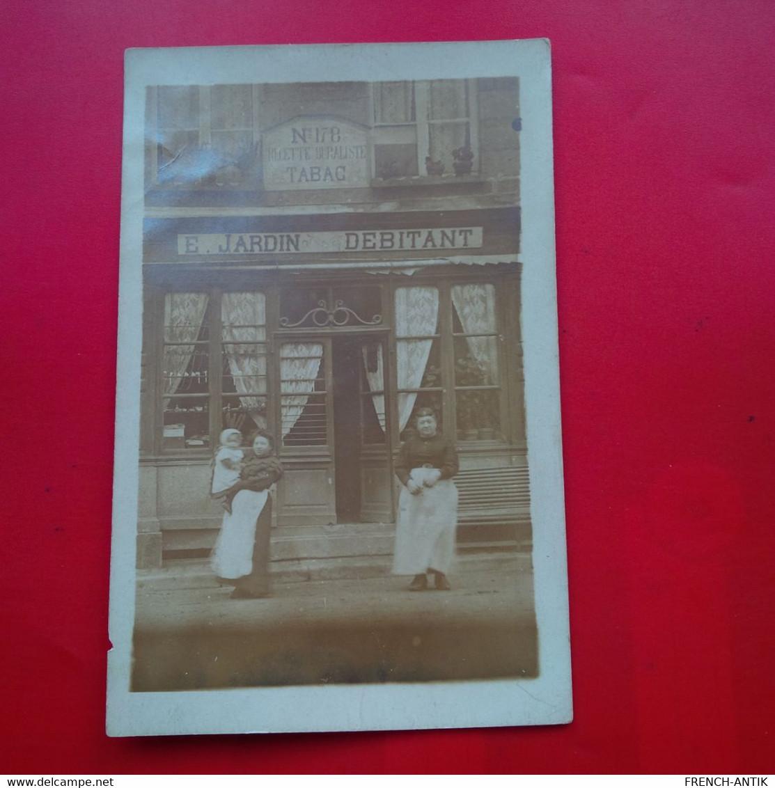 RARE CARTE PHOTO CHAMPSERET CHAMPSECRET ORNE TABAC E.JARDIN DEBITANT - Other Municipalities