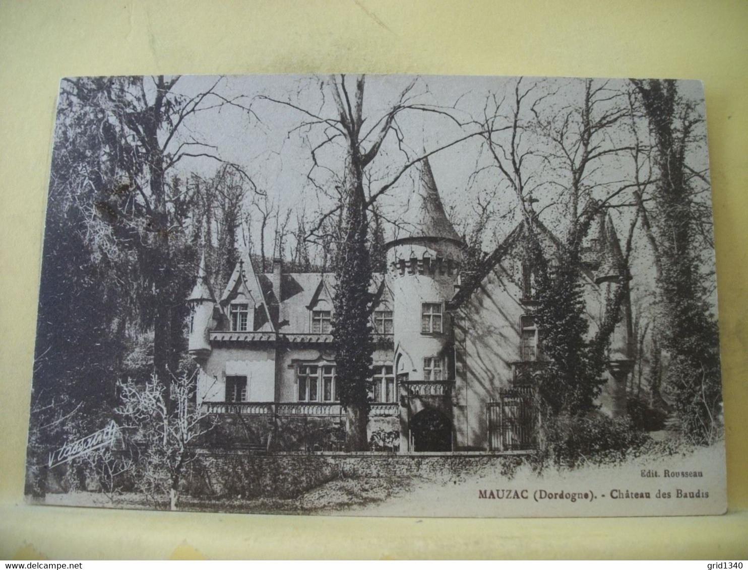 24 4375 LOT DE 9 CPA DIFFERENTES SUR LE CHATEAU DES BAUDIES A MAUZAC-ST-MAYME EN DORDOGNE - Castles