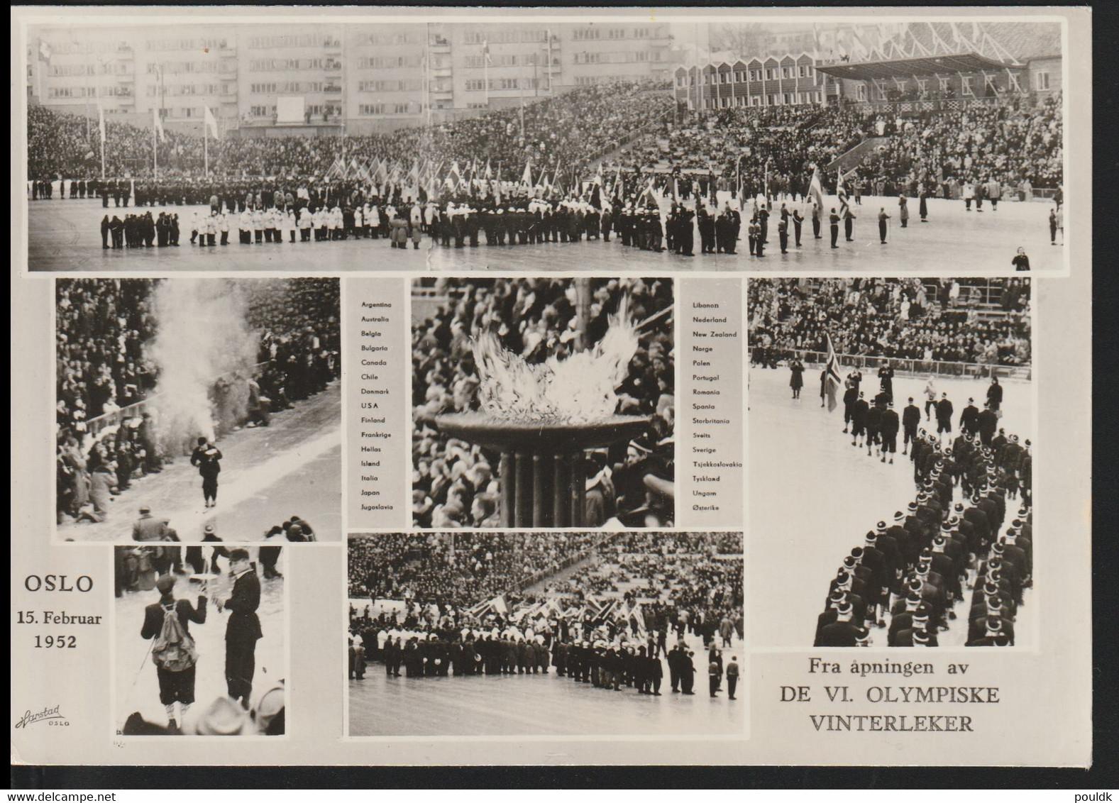 Norway Postcard 1952 Oslo Olympic Games Mint (DD32-54) - Winter 1952: Oslo