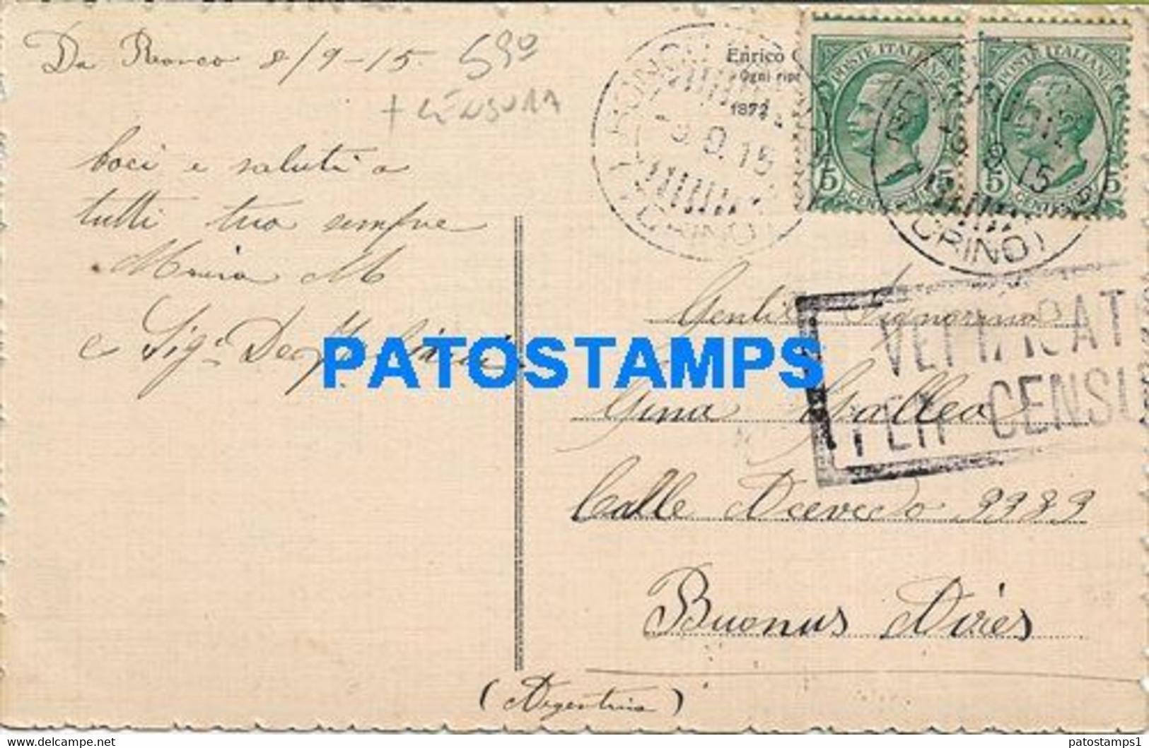 171519 ITALY LAGO DI LAZIN ALTA VAL SOANA CENSORED CIRCULATED TO ARGENTINA POSTAL POSTCARD - Unclassified