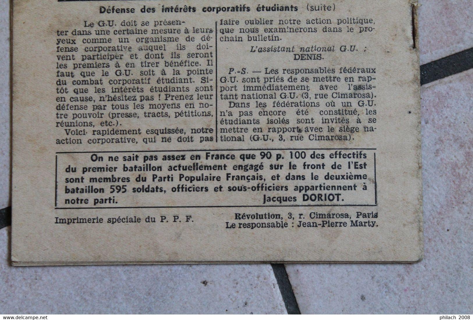 REVOLUTION Revue Pour La Jeunesse Du PPF MAI 43 - Documents