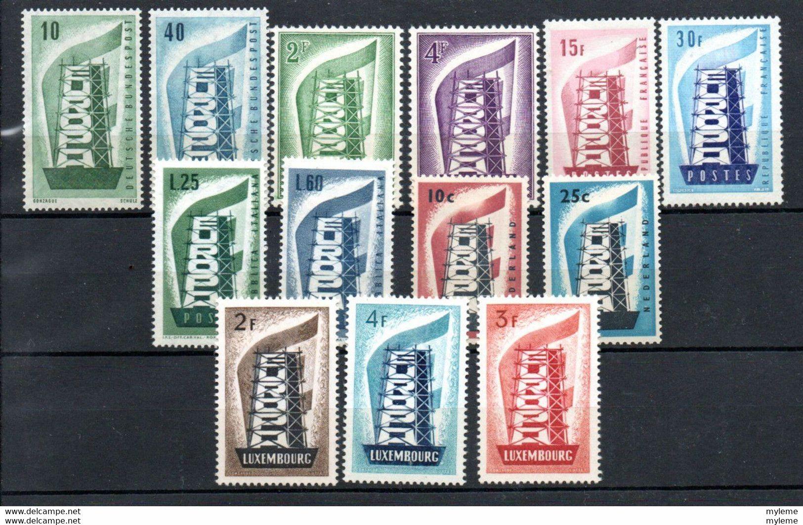 W-3 Europa CEPT Année 1956 ** Complète Côte 671 Euros !!! - Collections (with Albums)