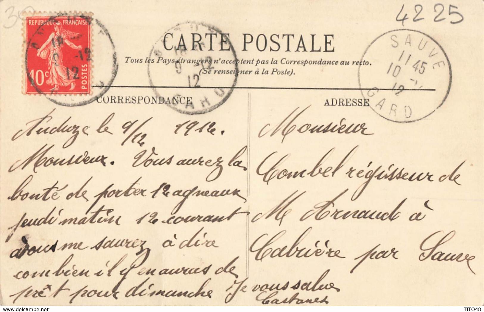 France (30 Gard) - Anduze - Boucherie A. Castanet - Anduze