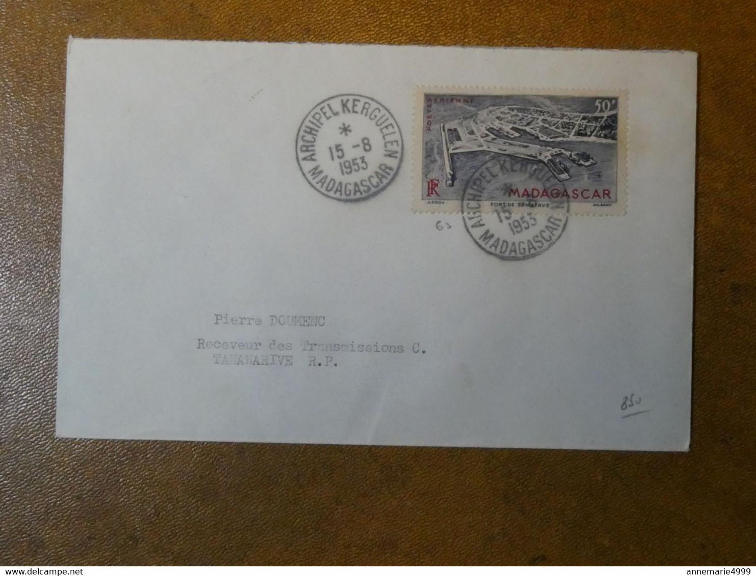 TAAF - MADAGASCAR Archipel Kerguelen  1953 Avec Certificat Voir Scans - ...-1955 Prephilately