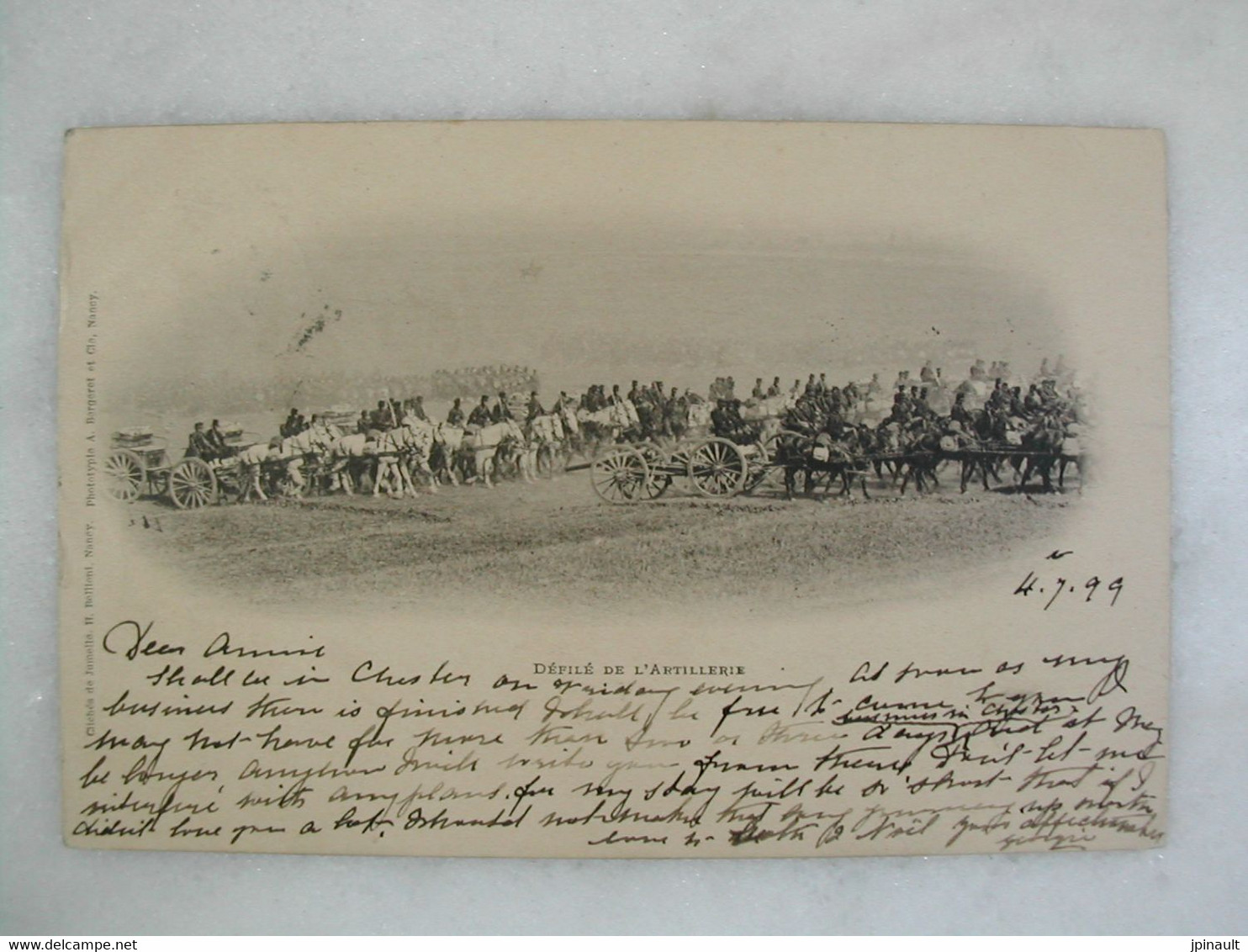 MILITARIA - Carte De 1899 - Défilé De L'artillerie (très Animée) - Manoeuvres