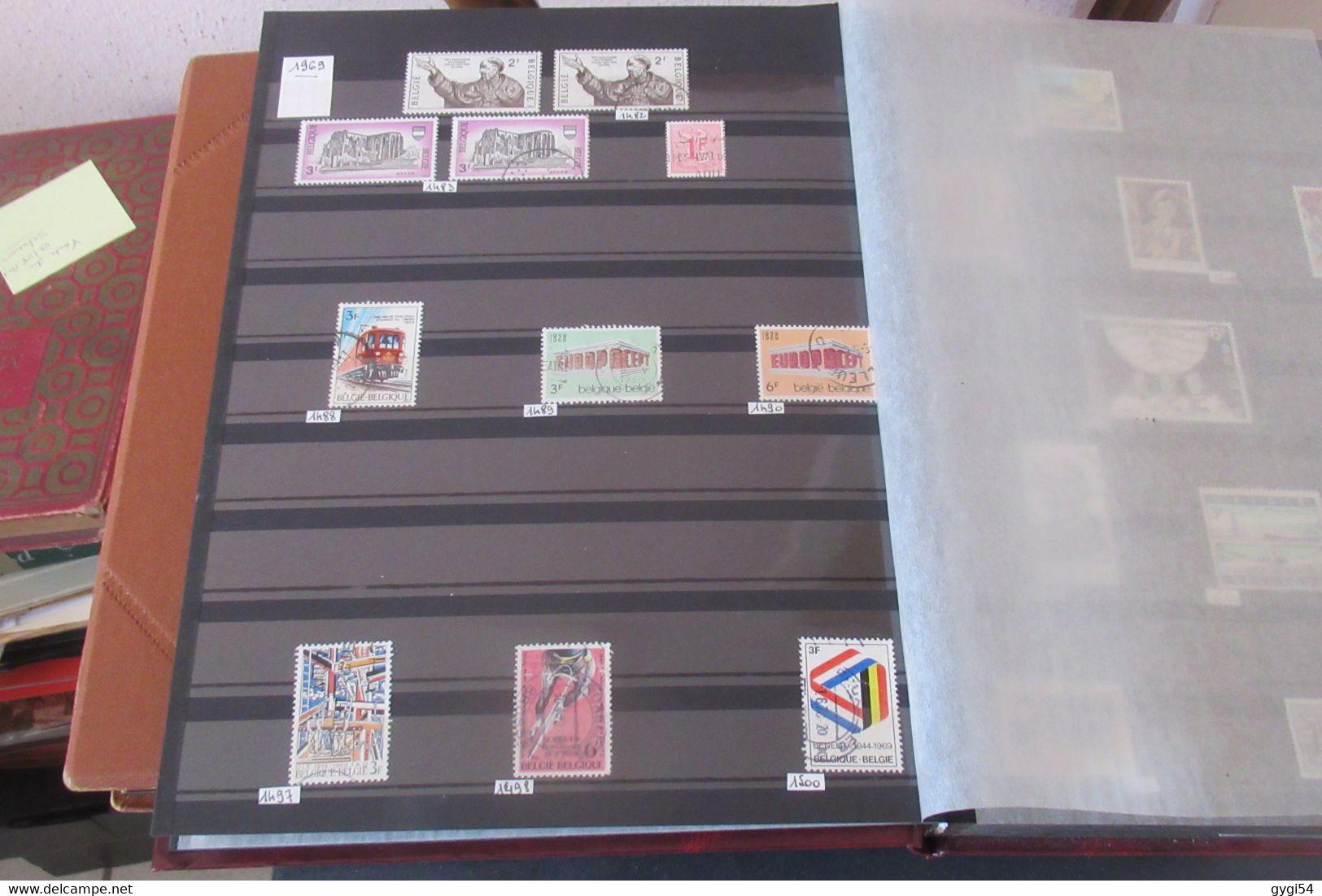 Belgique 2 Classeurs  Cat Yt N°  7 - 2588 O,BL N* , N** MNH FORTE COTE - Collections