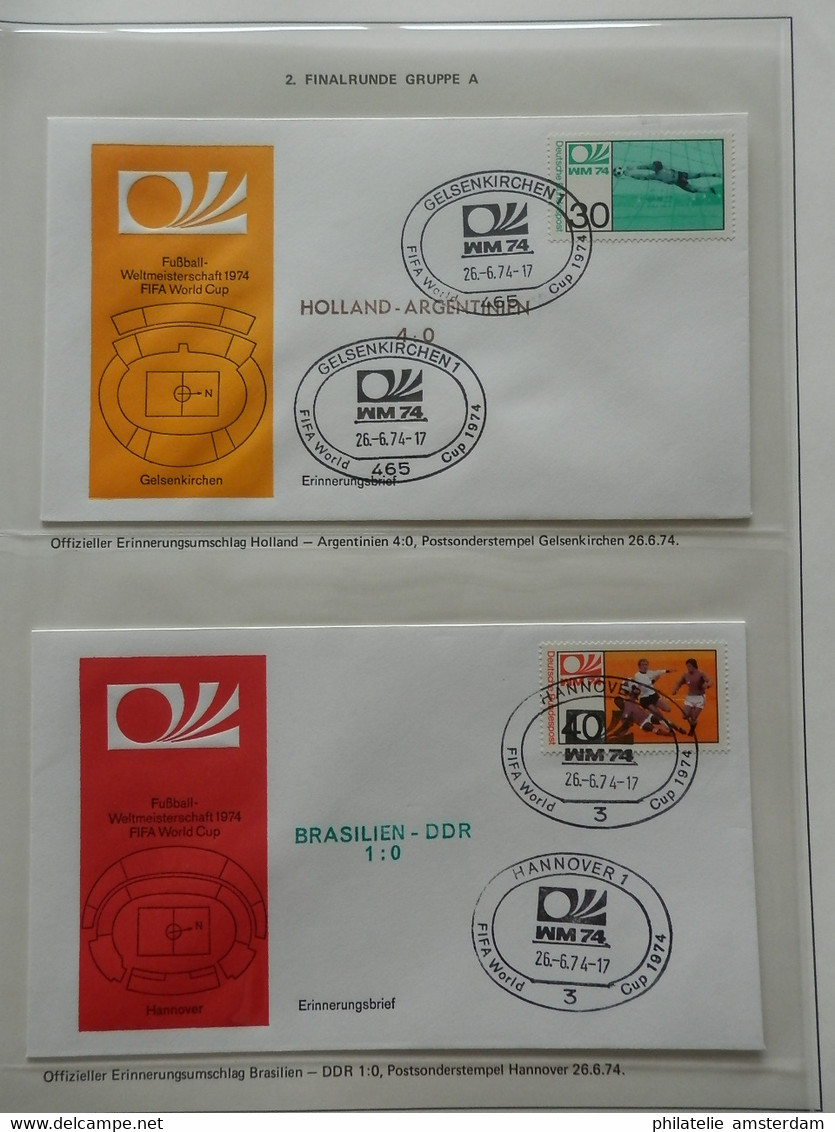START 1 EURO: Football World Championships 1974, 1978, 1982 - Stamps, FDC' S, Cards, Autograms And More - Collections (with Albums)