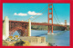 CA76  Golden Gate Bridge, San Francisco, California, CA, Vintage Postcard.