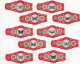 10 sigarenbanden    Churchill Coronas   Vlinders