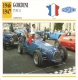 Fiche  -  Formula 2 Monoposto Cars  -  Gordini Type 11  -  1947    - Carte De Collection - Voitures
