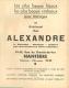 PUBLICITE ALEXANDRE BIJOUTIER HORLOGER A NANTERRE RUE DU CHEMIN DE FER   VOIR TOUS LES SCANS