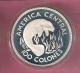 COSTA RICA WWF 100 COLONES 1974 AG PROOF MANATEE