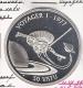 V ANUATU 50 VATU 1992 VOYAGER I AG PROOF RUIMTEVAART