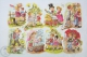 8 Different Childrens Illustrations - Western Germany Kruger Embossed, Die Cut/ Scrap Paper - Infantes