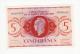 AFRIQUE EQUATORIALE FRANCAISE   Billet de 5 francs